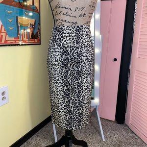Pinup Leopard Pencil Skirt